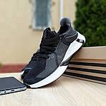 Мужские летние кроссовки Adidas (черно-белые) 10122, фото 5