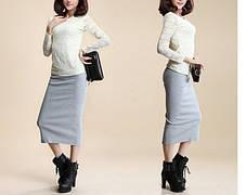 Стильная длинная юбка с разрезом макси, фото 3