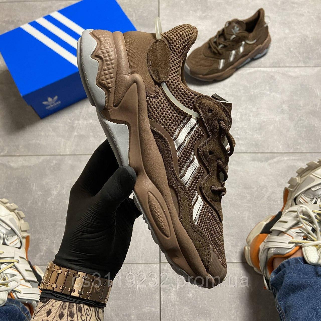 Мужские кроссовки Adidas Ozweego Brown (коричневый)