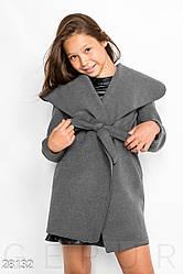 Детский кашемировый кардиган для девочки, серый, на рост 140, 146, 152. Бесплатная доставка