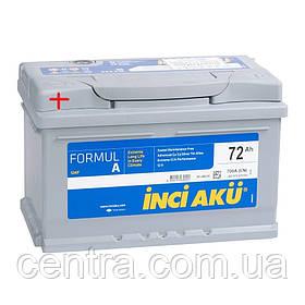Автомобильный аккумулятор INCI AKU 6СТ-72 FormulA  LB3 072 070 113