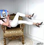 Женские туфли на широком каблуке с острым носом, голубые, серые, бежевые, пудра, черные, фото 5