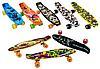 Скейт Пени Борд с принтом Penny Board колёса PU светятся коричневый, фото 2