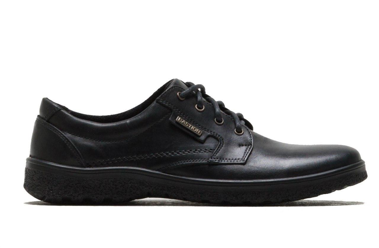 Мужские кожаные туфли комфорт Military black