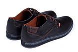Мужские кожаные туфли  Levis Stage1 Chocolate (реплика), фото 6