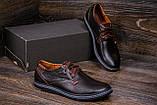 Мужские кожаные туфли  Levis Stage1 Chocolate (реплика), фото 7
