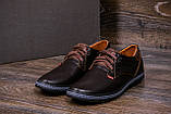 Мужские кожаные туфли  Levis Stage1 Chocolate (реплика), фото 9