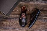 Мужские кожаные туфли  Levis Stage1 Chocolate (реплика), фото 10
