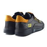 Мужские кожаные кроссовки CAT Chocolate Trend (реплика), фото 6