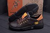 Мужские кожаные кроссовки CAT Chocolate Trend (реплика), фото 8
