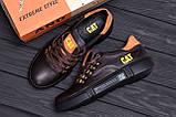 Мужские кожаные кроссовки CAT Chocolate Trend (реплика), фото 10