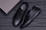 Мужские кожаные кроссовки  Е-series old school (реплика), фото 9