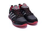Мужские кожаные кроссовки Adidas A19 Red Star (реплика), фото 3