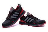 Мужские кожаные кроссовки Adidas A19 Red Star (реплика), фото 4