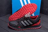 Мужские кожаные кроссовки Adidas A19 Red Star (реплика), фото 7