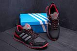 Мужские кожаные кроссовки Adidas A19 Red Star (реплика), фото 9