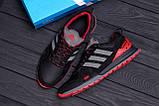 Мужские кожаные кроссовки Adidas A19 Red Star (реплика), фото 10