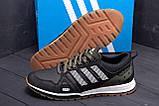 Мужские кожаные кроссовки Adidas A19 Green Star (реплика), фото 7