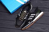 Мужские кожаные кроссовки Adidas A19 Green Star (реплика), фото 10