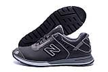 Мужские кожаные кроссовки NB Clasic Black (реплика), фото 4