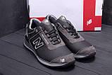 Мужские кожаные кроссовки NB Clasic Black (реплика), фото 7