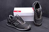 Мужские кожаные кроссовки NB Clasic Black (реплика), фото 8