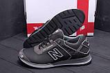 Мужские кожаные кроссовки NB Clasic Black (реплика), фото 9