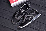 Мужские кожаные кроссовки NB Clasic Black (реплика), фото 10