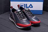 Мужские кожаные кроссовки FILA Tech Flex Blue (реплика), фото 7