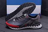 Мужские кожаные кроссовки FILA Tech Flex Blue (реплика), фото 8