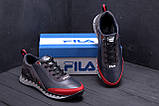 Мужские кожаные кроссовки FILA Tech Flex Blue (реплика), фото 9