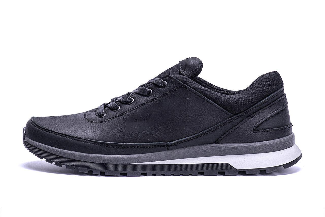 Мужские кожаные кроссовки  Е-series Classic black (реплика)