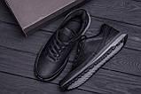 Мужские кожаные кроссовки  Е-series Classic black (реплика), фото 10