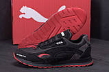 Мужские кожаные кроссовки Puma  Red Star (реплика), фото 7