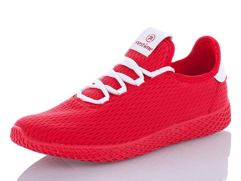 Женские кроссовки Restime текстильные красные для бега и фитнеса