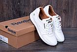 Мужские кожаные кроссовки Reebok Classic White Pearl (реплика), фото 7