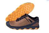 Мужские кожаные кроссовки  Е-series Natural Motion olive (реплика), фото 3