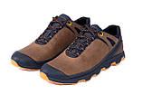 Мужские кожаные кроссовки  Е-series Natural Motion olive (реплика), фото 4