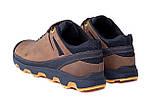 Мужские кожаные кроссовки  Е-series Natural Motion olive (реплика), фото 5