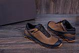 Мужские кожаные кроссовки  Е-series Natural Motion olive (реплика), фото 7