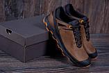 Мужские кожаные кроссовки  Е-series Natural Motion olive (реплика), фото 8