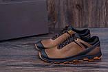 Мужские кожаные кроссовки  Е-series Natural Motion olive (реплика), фото 10