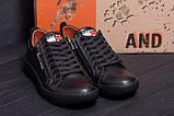 Мужские кожаные кеды Tommy HF New Line spring Black(реплика), фото 8
