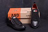 Мужские кожаные кеды Tommy HF New Line spring Black(реплика), фото 9