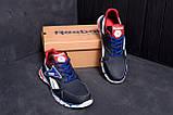 Мужские кожаные кроссовки Reebok Street Style Blue (реплика), фото 7