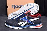 Мужские кожаные кроссовки Reebok Street Style Blue (реплика), фото 9