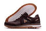 Мужские кожаные кроссовки  Reebok SPRINT TR Brown (реплика), фото 5