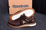 Мужские кожаные кроссовки  Reebok SPRINT TR Brown (реплика), фото 8
