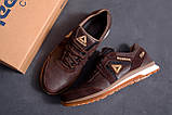Мужские кожаные кроссовки  Reebok SPRINT TR Brown (реплика), фото 10