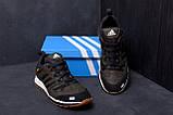 Мужские кожаные кроссовки Adidas A565 Green  (реплика), фото 7